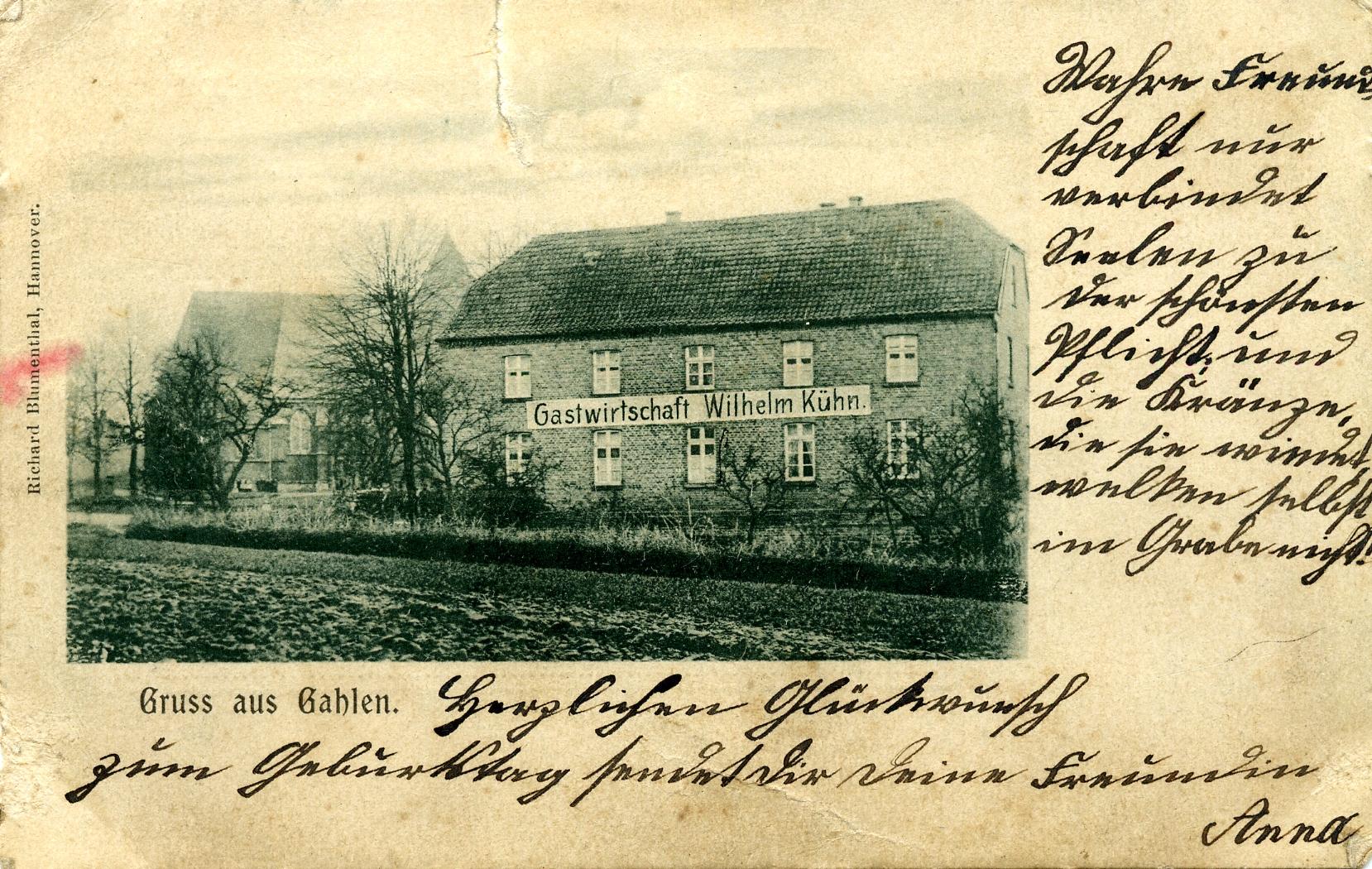 Gastwirtschaft \'\'Kühn\'\' 1900