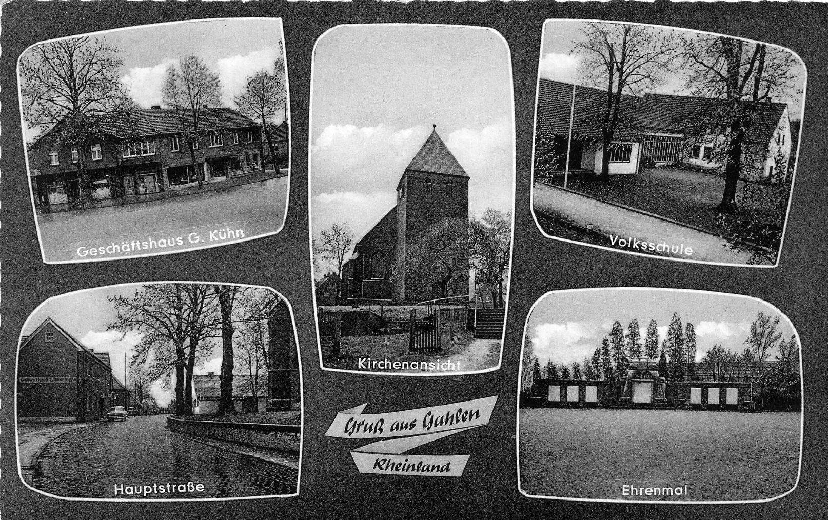 Postkarte Gahlen