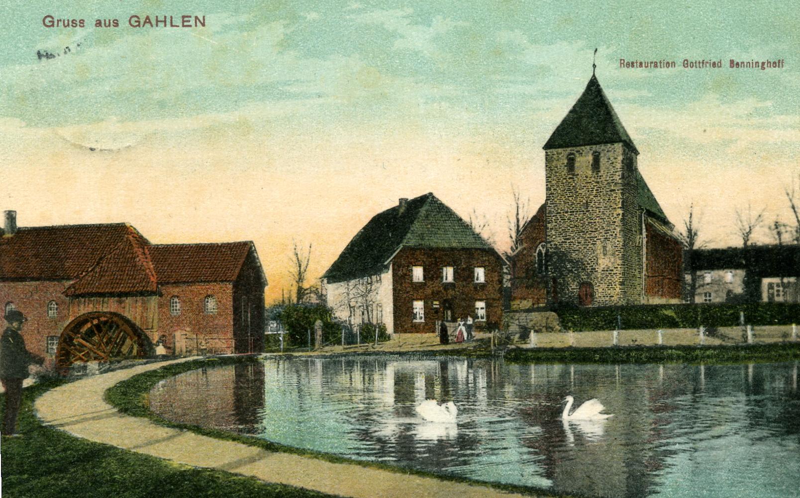 Postkarte Mühlenteich 1911