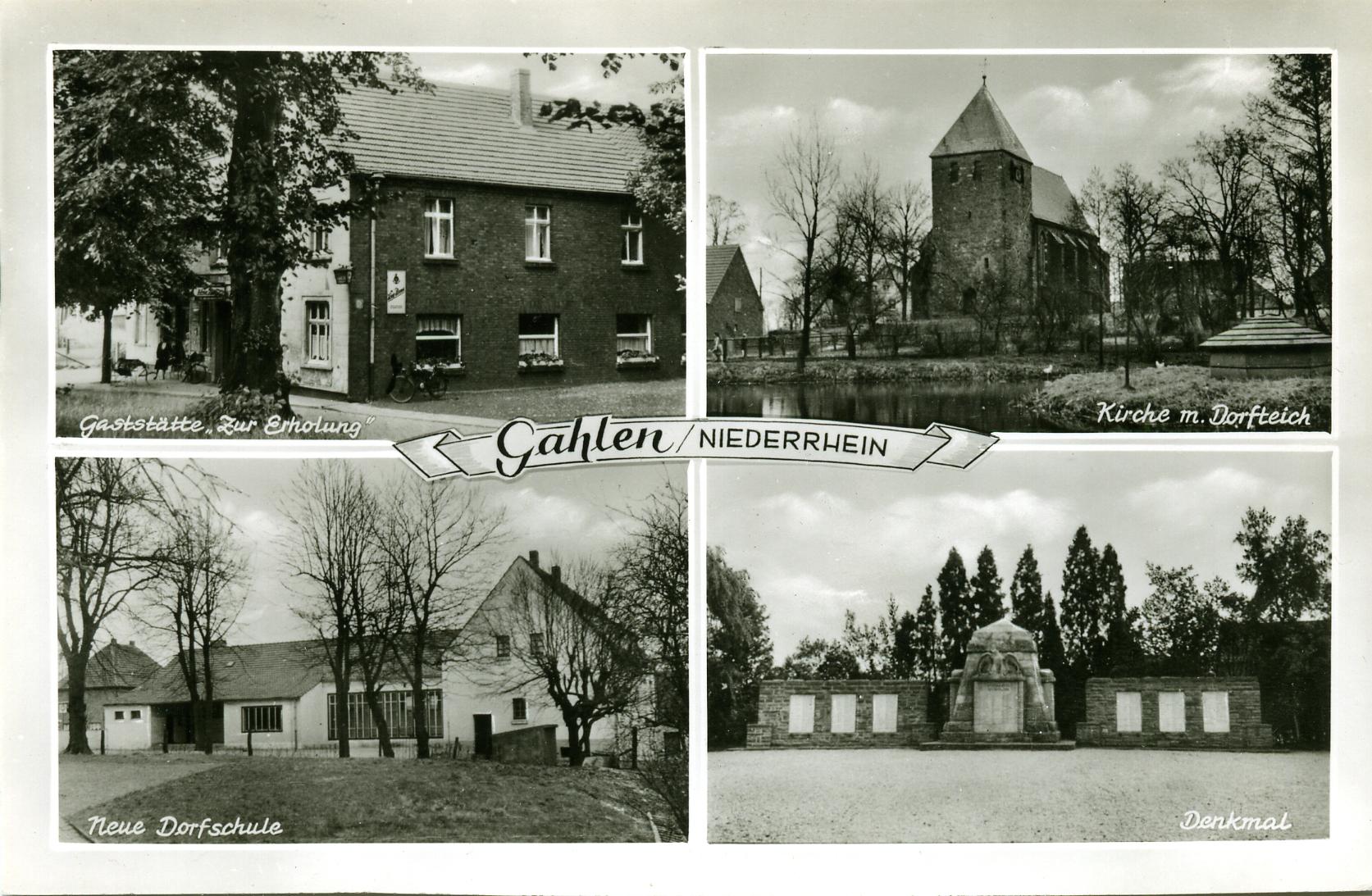 Postkarte Gahlen Gaststätte